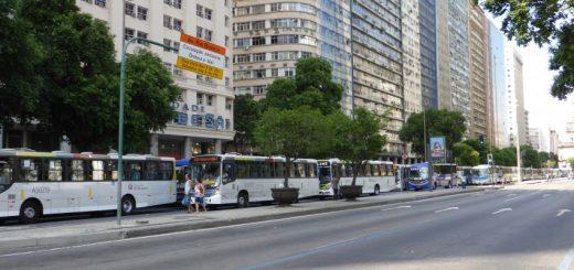 Carnival Street Standstill Buses Rio de Janeiro
