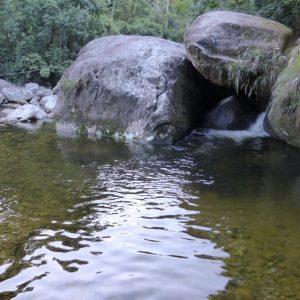 Small waterfall near the church.