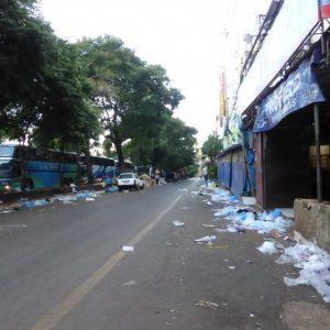 Ciudad del Este street market aftermath.