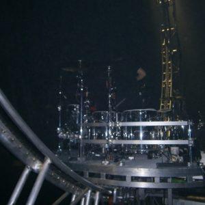 Tommy Lee's revolving drum kit.