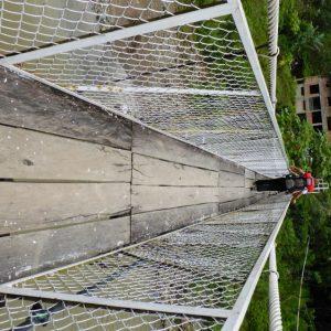 Cable river bridge at  Córdoba.