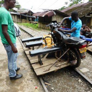Motorcycle Rail-Trolley.