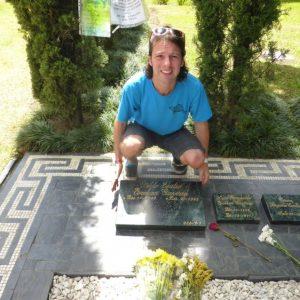 Pablo Escobar's grave.
