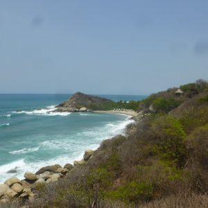 The coast of Parque Nacional Natural Tayrona.