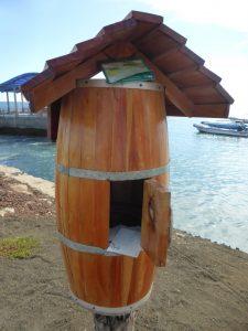 The Bahia Post Office barrel in Isla Floreana, Galapagos Islands.