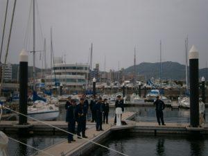 Pulling into Suma Harbor in Kobe, Japan.