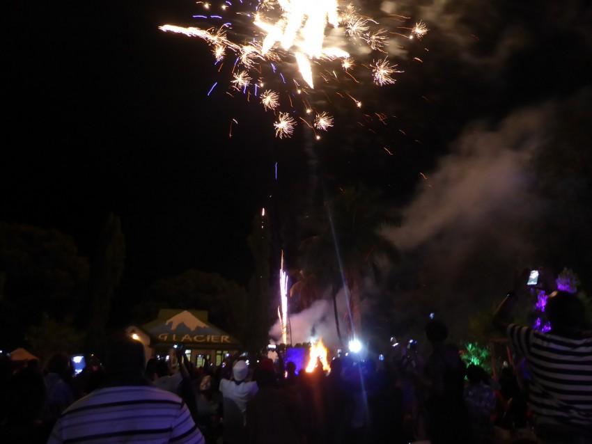 Glacier Sports Bar. Lighting Fireworks.