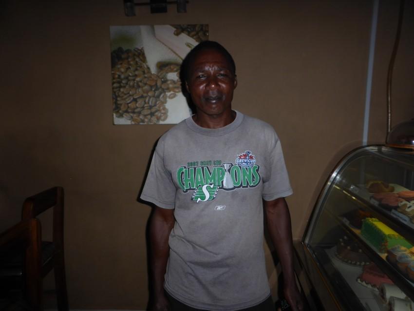 A Saskatchewan Roughriders shirt in Mwanza, Tanzania! Wow!