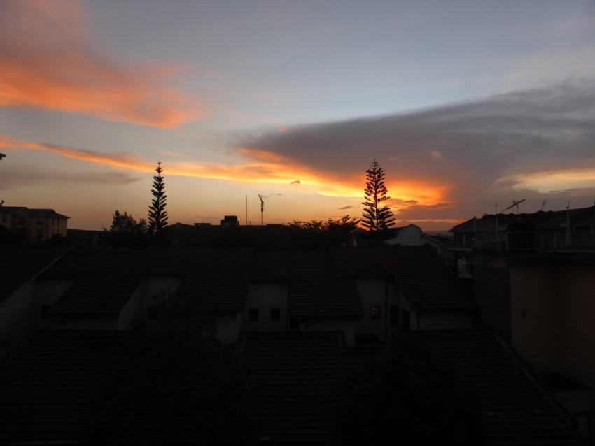Nairobi sunset from Steve's balcony.