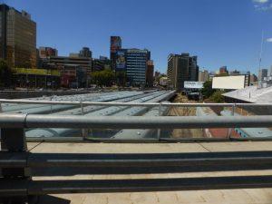 The trains below Mandela bridge.
