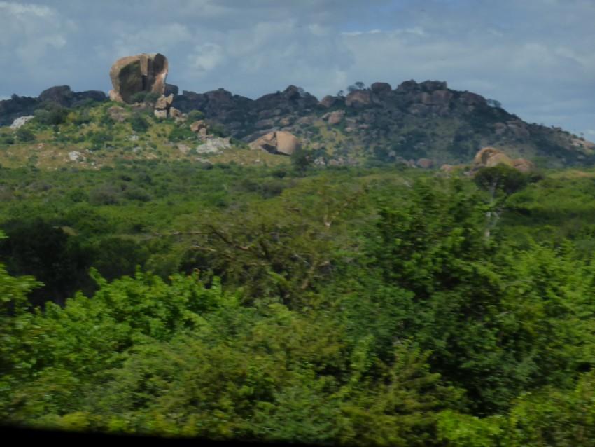 Crazy huge rocks. Top left corner.