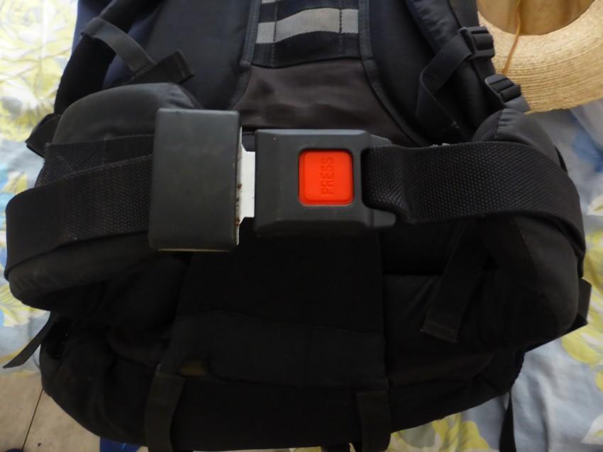 Seat Belt Backpack Clip Handiness!
