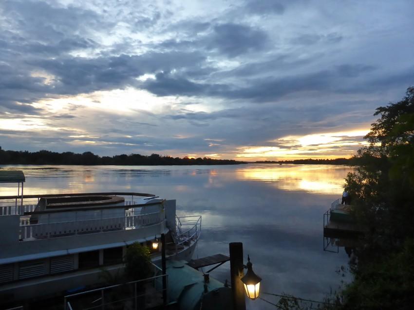 A beautiful sunset on the Zambezi River.