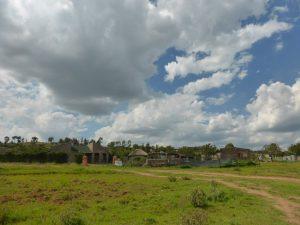Lesotho village.