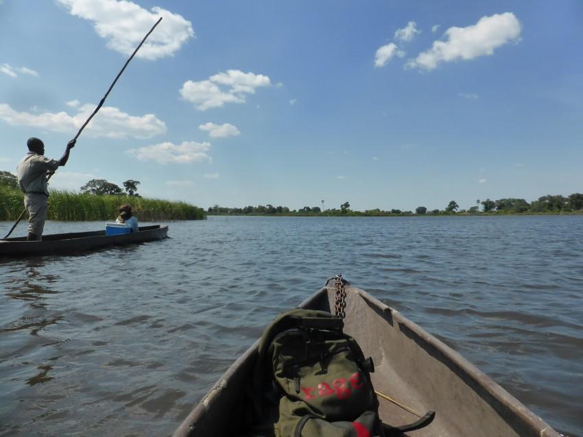 Poling life on the Okavango Delta.