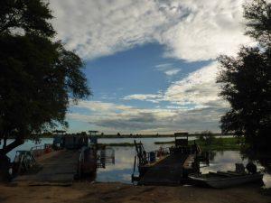 Ferries to take you across the Okavango River.
