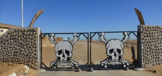 Skeleton Coast National Park Ugabmund Gate.