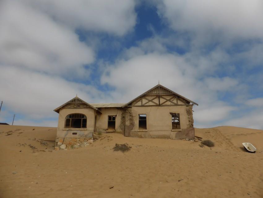 The iconic photo of the Kolmanskop school-teachers' house.