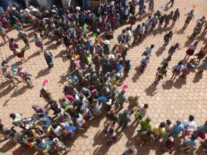 Rival village circle dances.