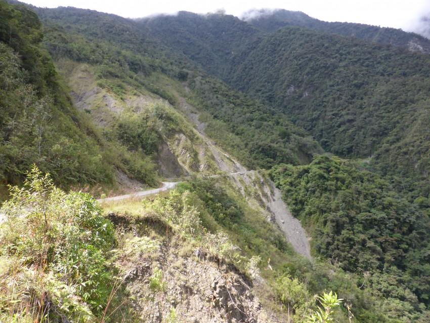 Death Road.  World's Most Dangerous Road.   La Paz.  Bolivia.