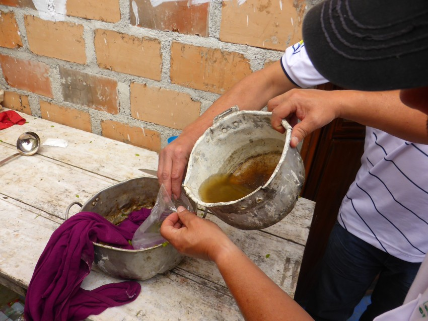 Making cocaine in San Agustín, Colombia