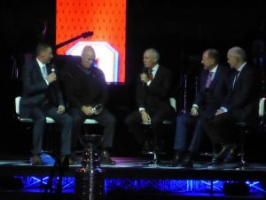The captains, Wayne Gretzky, Mark Messier, Kevin Lowe and Lee Fogolin.