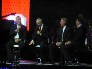 Paul Coffey, Glenn Anderson, and Jari Kurri.
