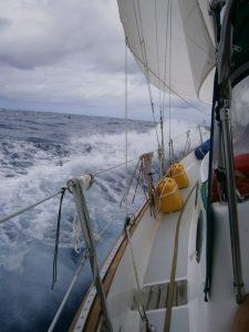 Angry seas.