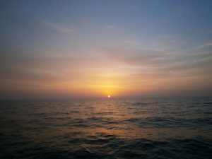 The sunrise.