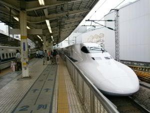 Shinkansen - The bullet train.