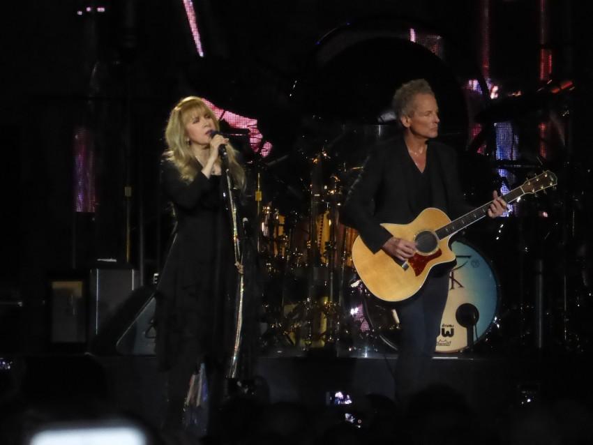 Stevie Nicks and Lindsey Buckingham.