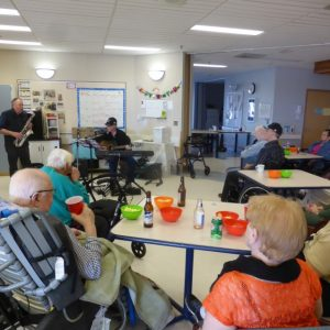 Making Music in a Senior Citizen's Center
