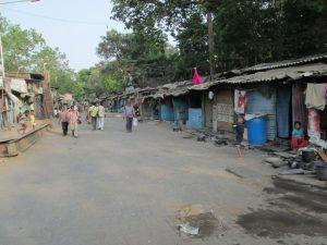 A poorer area of Mumbai.