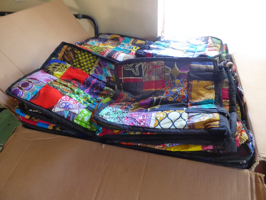 Crafted bags to be send overseas to generate income for the school.