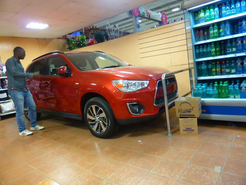 It appears that you can buy cars from Nairobi supermarkets!