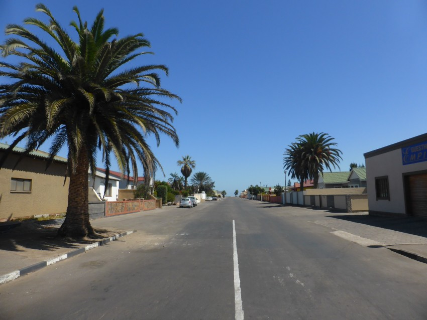 The streets of Walvis Bay.