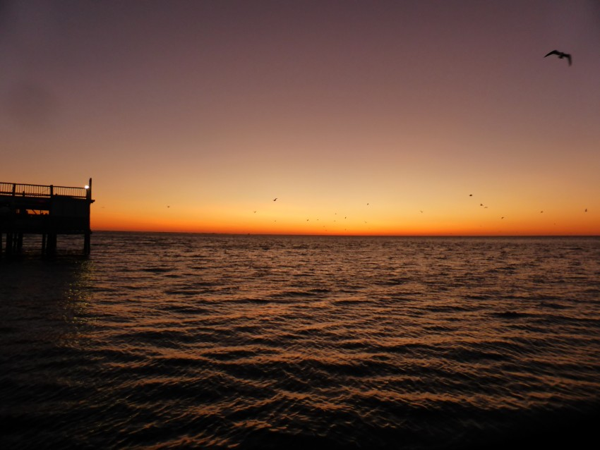 Sunset of Walvis Bay.