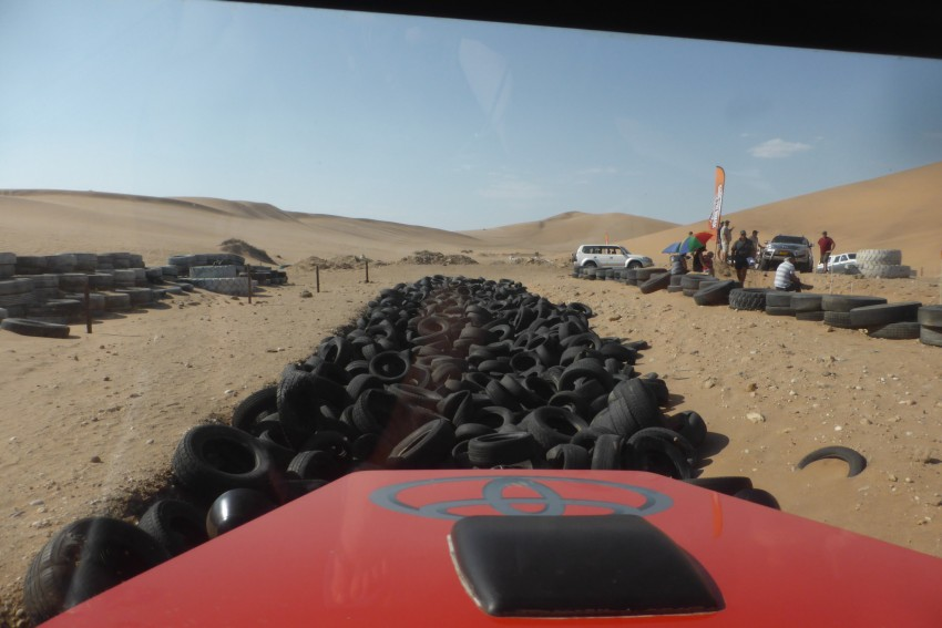 You can drive across anything in this machine! Walvis Bay 4x4 Off-Road Challenge.