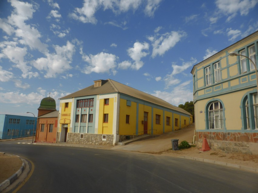 Lüderitz is a decidedly German town. Look at the buildings. Look at the letters they use to spell Lüderitz.