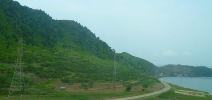 North Korean landscape.