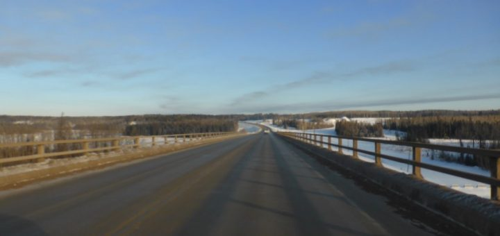The Bridge to Nowhere, just north of Fort Mackay.