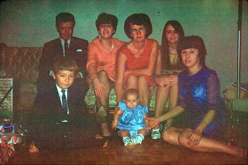 Mom, second from the left, with her siblings in the late 1960's.