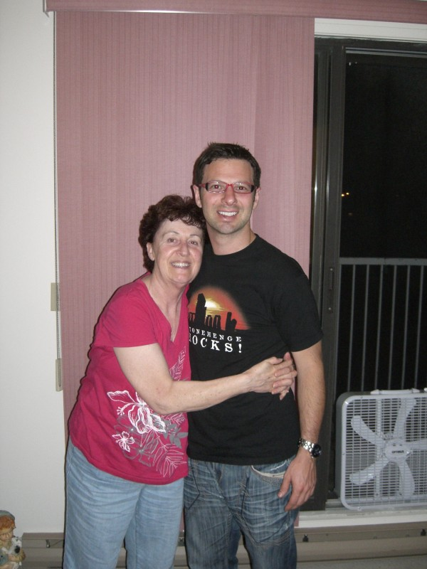 Mom and I in the summer of 2011.