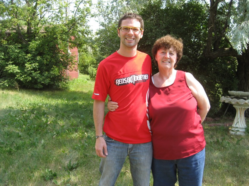 Mom and I in the summer of 2007.