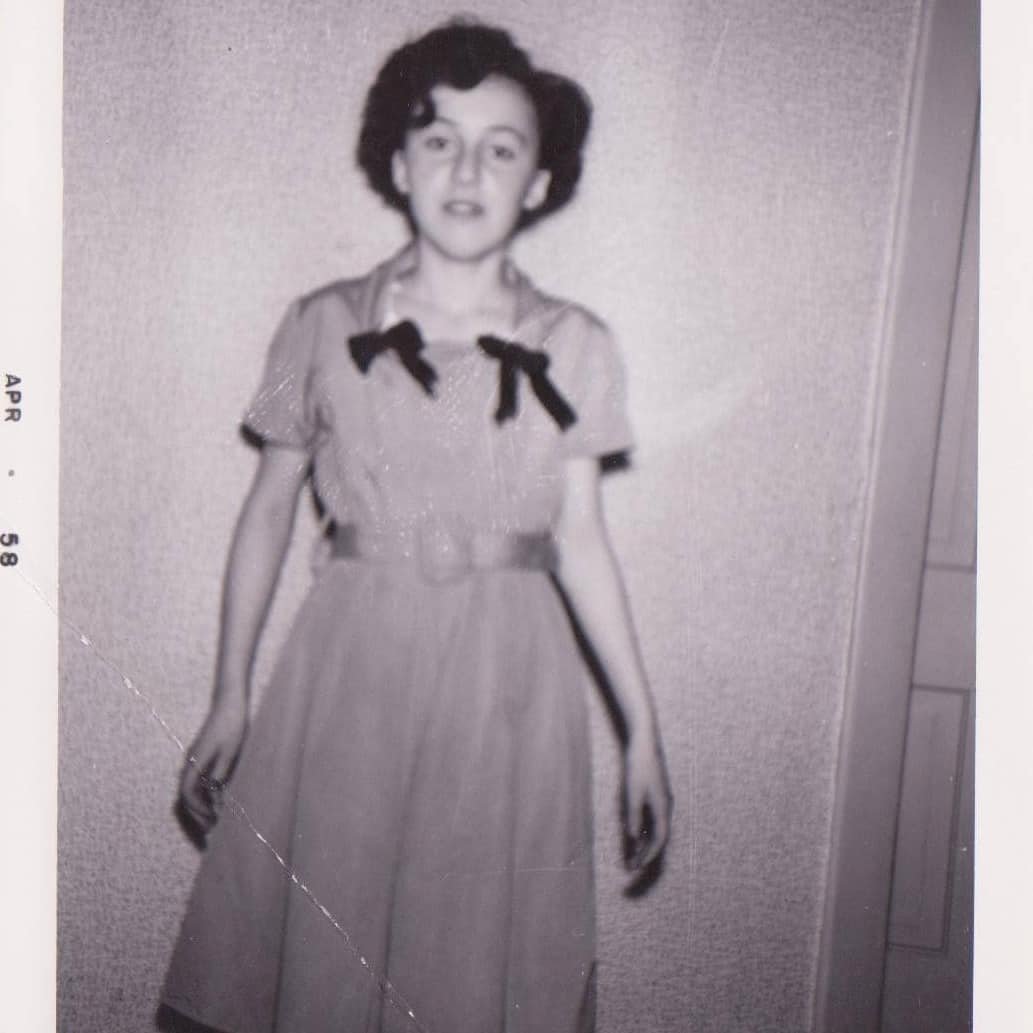 Mom at 12 years of age in 1958.
