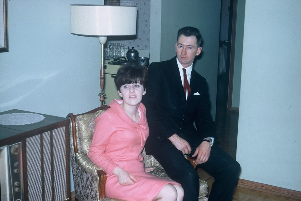 Mom and dad looking pretty tidy in the 1960's.