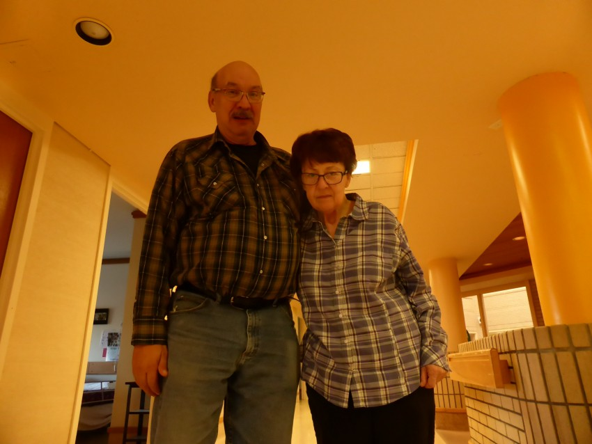 Doug and mom in November 2015. Her change over the 8 months between this photo and the previous one is drastic.