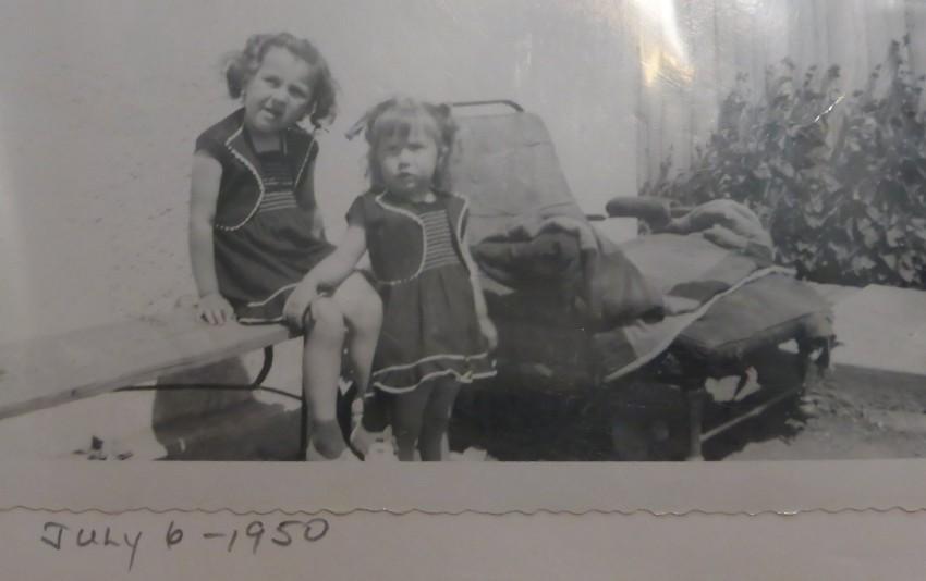 Mom and Sharon, July 1950.