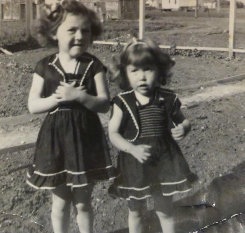 Mom and Sharon in July, 1950.