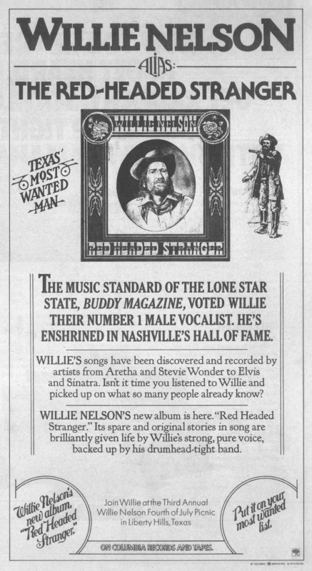Album Review - Red Headed Stranger (1975) – Willie Nelson